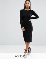 Asos Long Sleeve Bodycon Midi Dress