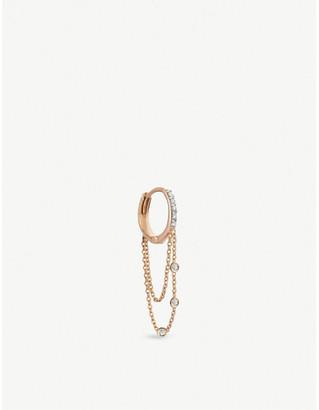 Rosegold The Alkemistry Kismet by Milka 14ct rose-gold and diamond hoop single earring