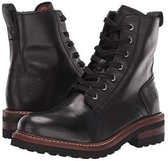 Frye Ella Moto Lace (Black) Women's Boots