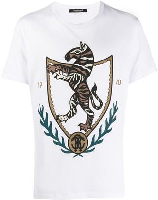 Roberto Cavalli Chimera Crest print T-shirt