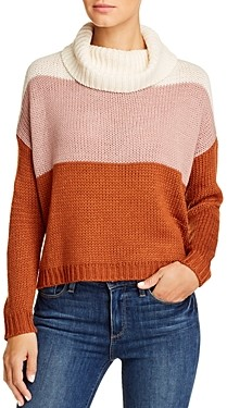 BeachLunchLounge Dara Color-Block Cowl Neck Sweater
