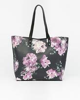 Le Château Floral Print Leather-Like Tote Bag