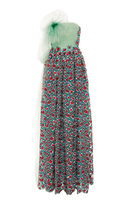 DELPOZO Embroidered Gown