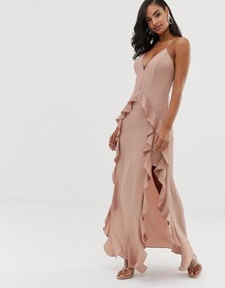 The Jetset Diaries light my fire ruffle maxi dress