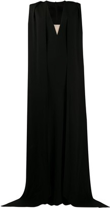 Alex Perry Plunge Style Cape Dress