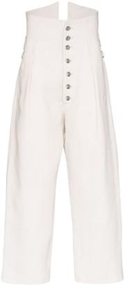 Sulvam pleated linen trousers