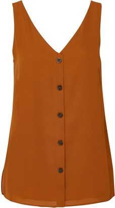 Wallis Rust Button Front Camisole Top