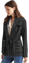 Gap Wool-blend stripe short coat