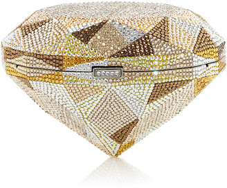 Judith Leiber Couture Diamond Canary Crystal Clutch Bag