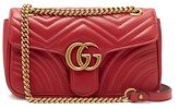 Gucci GG Marmont Mini Quilted-leather Bag - Womens - Red