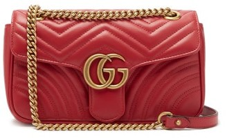 Gucci Gg Marmont Mini Quilted Leather Bag - Womens - Red