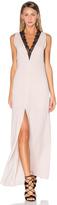 BCBGMAXAZRIA Lace Front Maxi Dress