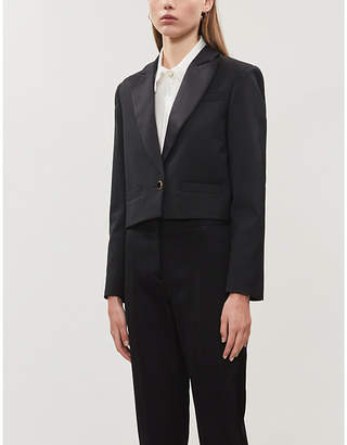 Sandro Tery cropped woven blazer