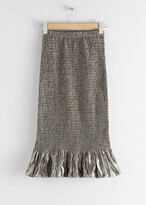 Thumbnail for your product : And other stories Smocked Metallic Midi Ruffle Skirt