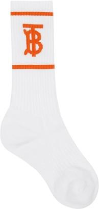Burberry Monogram Motif intarsia socks