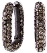 Selim Mouzannar Icy Brown Diamond Link Hoop Earrings