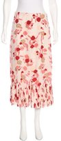 Thakoon Floral Print Midi Skirt