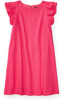 Ralph Lauren 7-16 Eyelet Cotton A-Line Dress