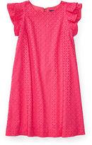 Ralph Lauren 7-16 Eyelet Cotton A-Line Dress