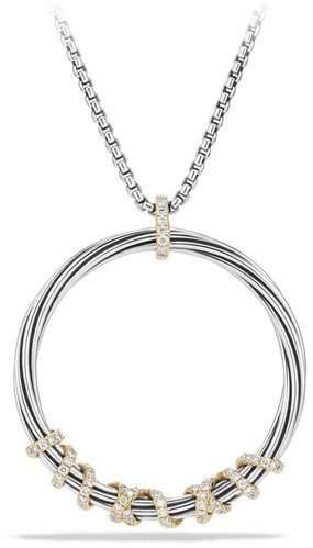 David Yurman Helena Large Pendant Necklace with Diamonds