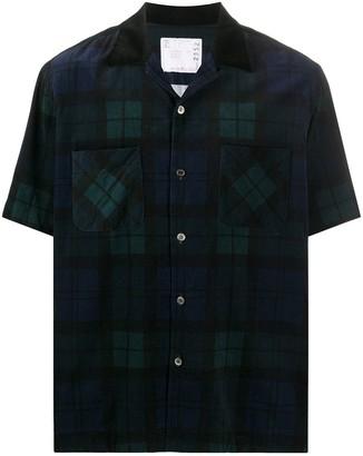 Sacai Plaid Print Shirt
