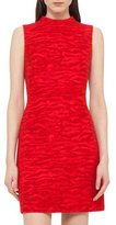 Akris Tiger-Print Sleeveless Sheath Dress, Red