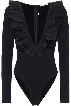 Alessandra Rich Ruffle-trimmed bodysuit