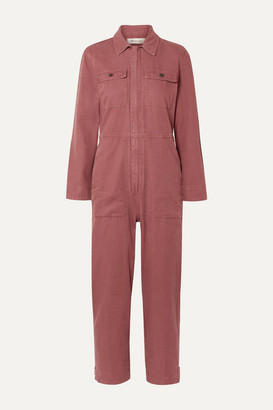 Madewell Holiday Denim Jumpsuit - Brick
