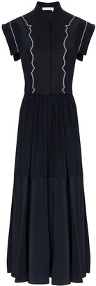Chloé Cap Sleeve Midi Dress