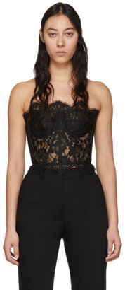 Dolce & Gabbana Black Lace Short Galloon Bustier