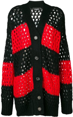 DSQUARED2 Long Striped Cardigan