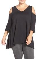 Sejour Plus Size Women's Cold Shoulder Top