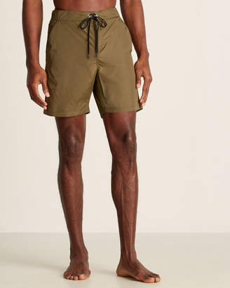 Solid & Striped Olive Tech Long Board Shorts