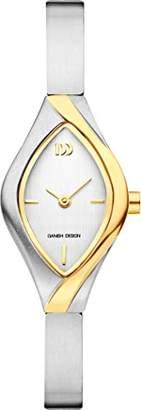 Danish Designs Danish Design Women's Quartz Watch with Silver Dial Analogue Display and Grey Titanium Bangle DZ120490