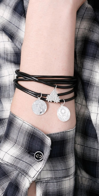 Jules Smith Designs Black Bangles with Charms
