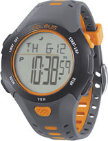 Soleus Contender Mens Gray and Orange Digital Running Watch