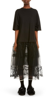 Simone Rocha Tutu Hem T-Shirt Midi Dress