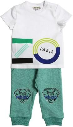 Kenzo Kids Cotton Jersey T-shirt & Sweatpants