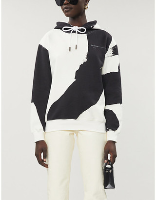 Off-White Brushstrokes abstract-pattern jersey hoody