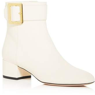 Bally Women's Jay Buckle Square Toe Booties