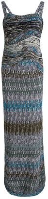 Missoni Multicolor Textured Wool Sleeveless Maxi Dress S