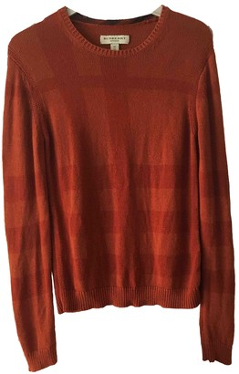 Burberry Orange Cashmere Knitwear