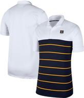 Nike Men's White/Navy West Virginia Mountaineers Striped Polo