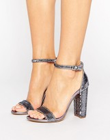 Steve Madden Carrson Two Part Pewter Sandals