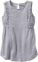 Gap Stripe ruffle-trim dress