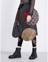 Junya Watanabe Asymmetric-hem patchwork skirt