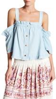 Romeo & Juliet Couture ROMEO &JULIET COUTURE Cold Shoulder Button Shirt