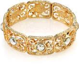 JCPenney 1928 Jewelry Crystal Gold-Tone Stretch Bracelet