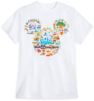 Disney Walt World Map T-Shirt for Adults Park Life