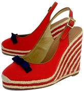 Kate Spade Red Canvas Espadrille Wedges